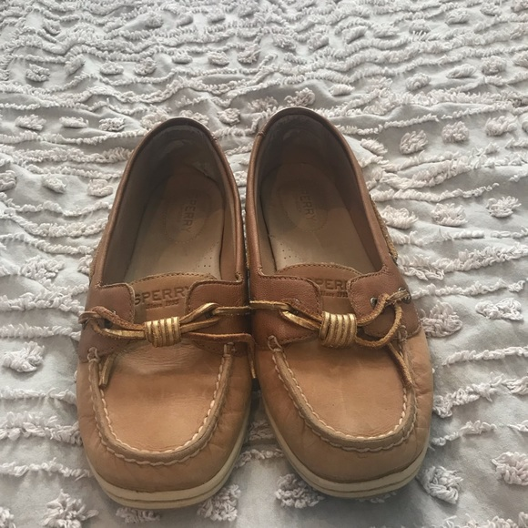 Sperry Topsiders With Gold Laces Tie
